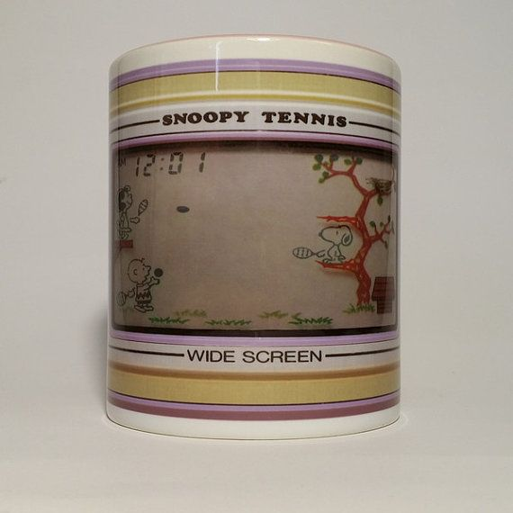 Tazza Nintendo Game & Watch SNOOPY TENNIS di OriginalDIY su Etsy