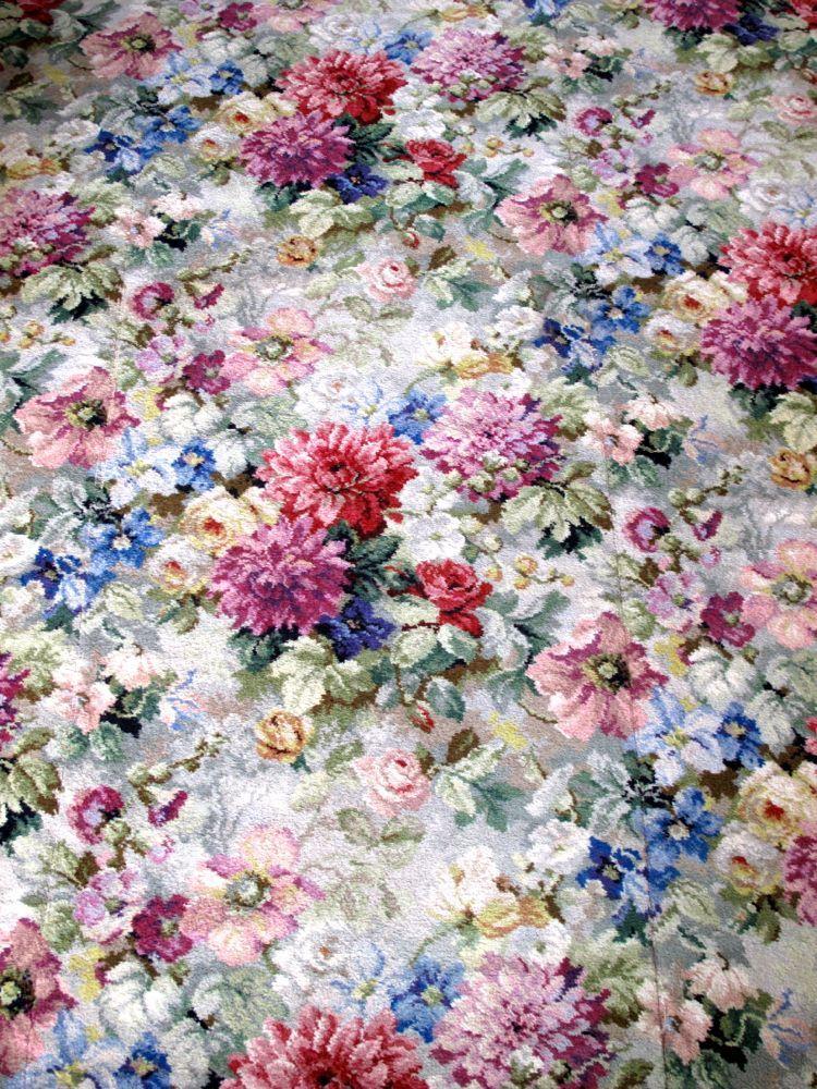 Stunning Vintage Axminster Floral Carpet Huge Room Sized Rug