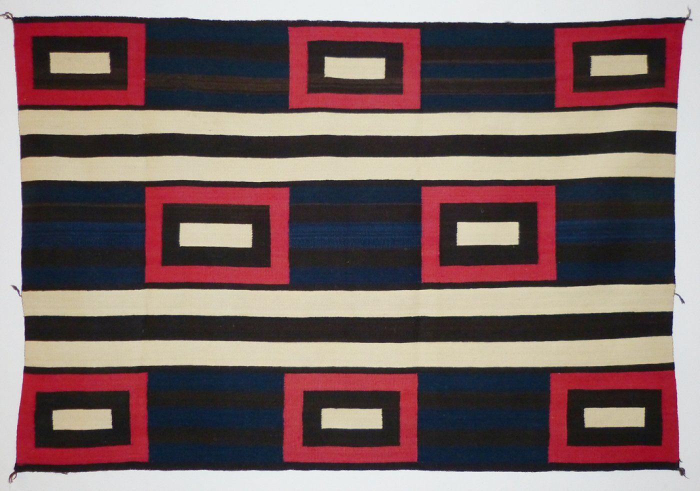Navajo Second Phase Chief Blanket Revival C 1920 Shiprock Santa Fe