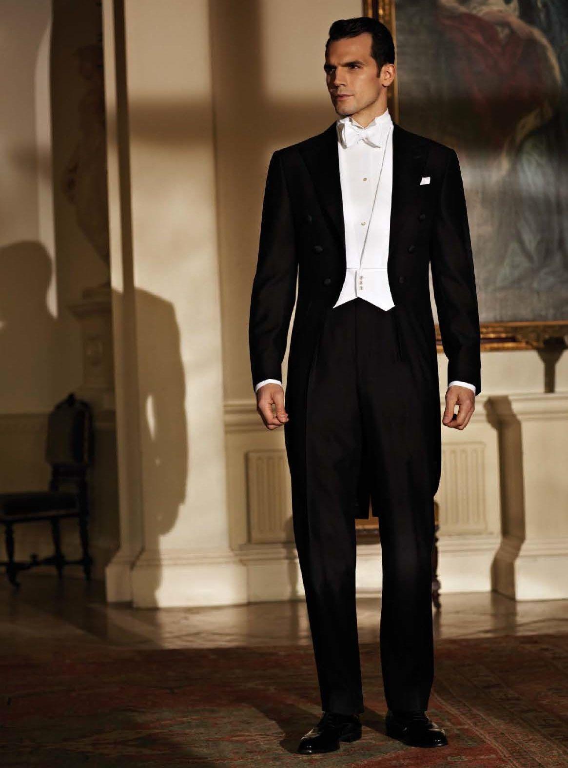 Ede Ravenscroft White Tie Black Suit Wedding Mens Fashion Classic White Tie Dress Code