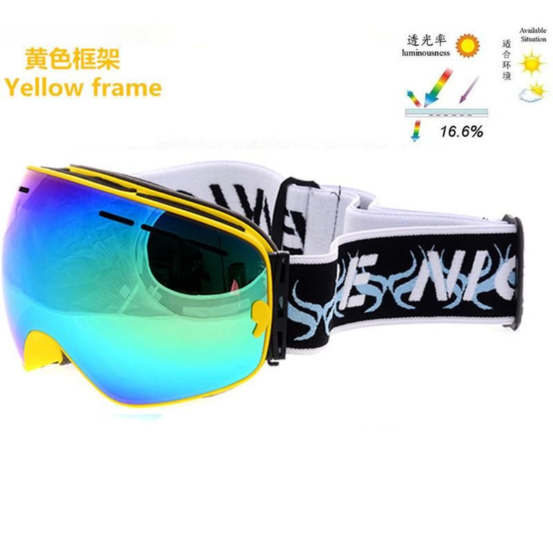 9e2df6e17bf Sports brand snowboard goggles large lens anti fog big spherical Genuine  winter motocross skiing glasses gafas