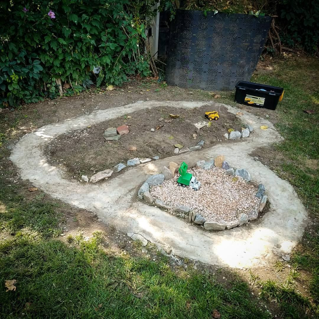 Backyard Race Car Track & …Dinosaur Garden? 🚚🦕 Dinosaur