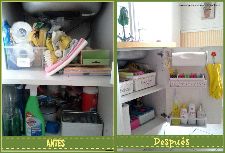 El mueble del fregadero antes y despu s casa - Almacenaje de cocina ...