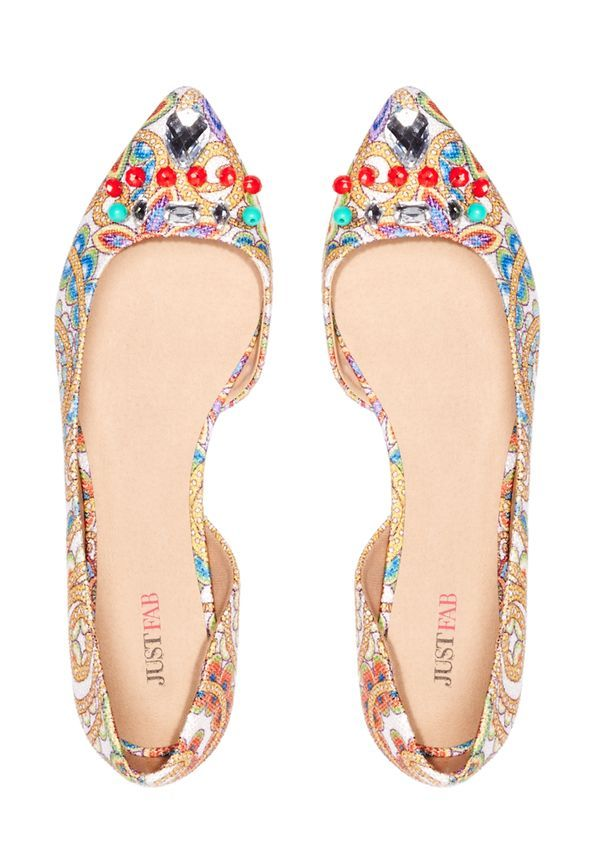 53587a496f2 Angelique Shoes in Red Multi - Get great deals at JustFab