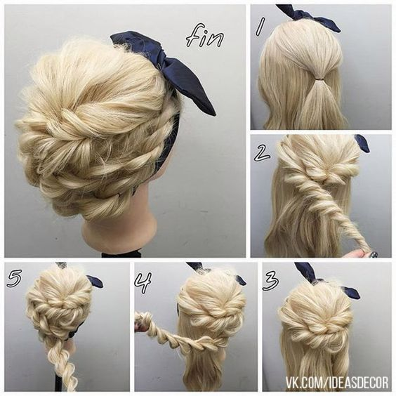 Easy Step By Hair Tutorials For Long Medium And Short Braided Pinterest Chic Braid