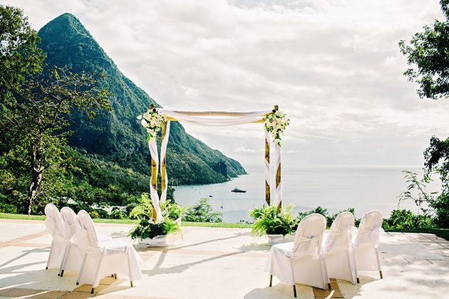 One S Intimate Beach Wedding In St Lucia