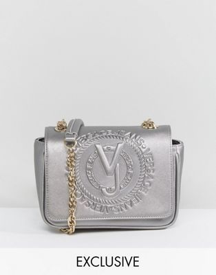 8f9717f5e2 Versace Jeans Embossed Metallic Cross Body Bag | Versace Jeans ...