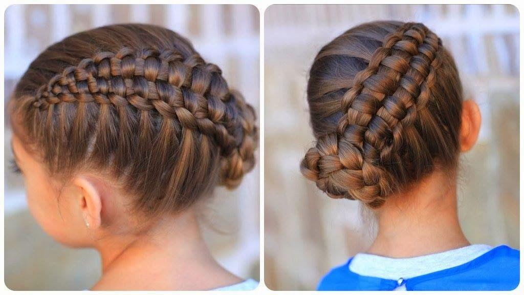 Peinados con trenzas para nina recogido