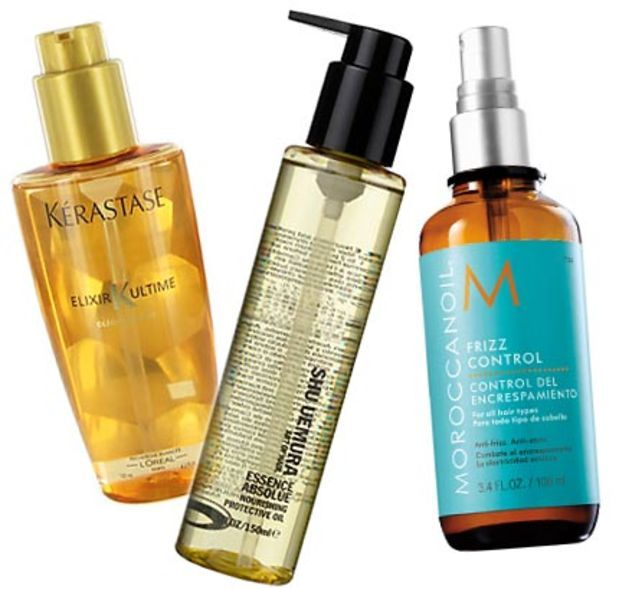No more crazy cat-lady hair! Frizz busters: Kerastase Elixir Ultime, Shu Uemura Essence Absolue, Moroccanoil Frizz Control