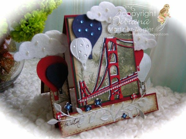 by Bibiana; Stamping with Bibiana: Center Step Card for Memorial Day. patriotic cards for men