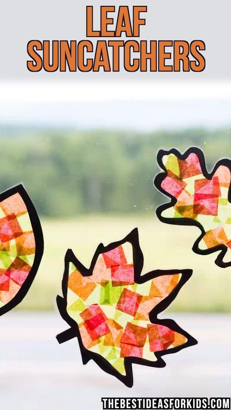 Leaf Suncatcher Craft #herbstdekofensterkinder