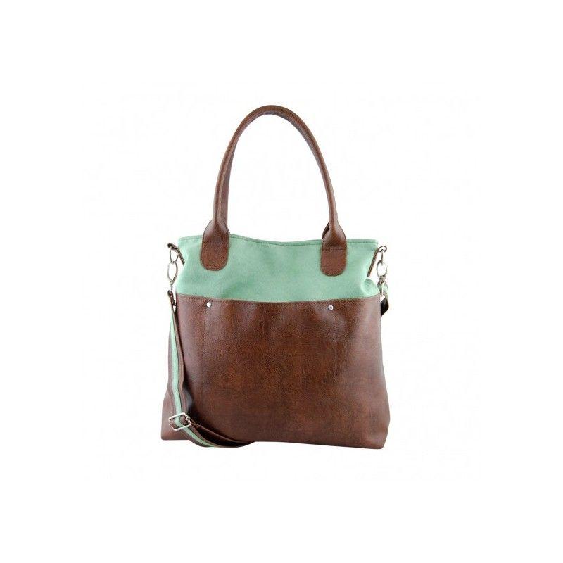 Handgjord väska i det exklusiva materialet eko läder och eko