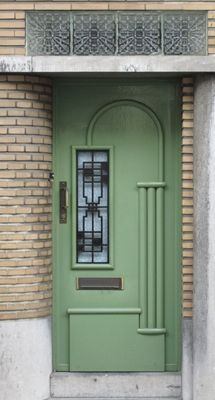 Art Deco Front Doors | Found On Retroscoop.com