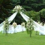 columns for weddings | Outdoor Wedding Reception Decorations 150x150 Ideas for Wedding ...