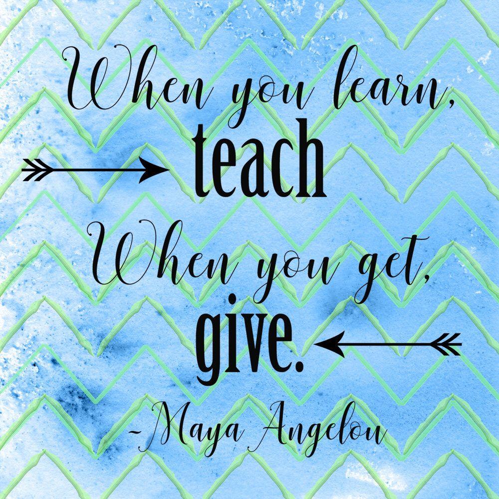 Inspirational Teacher Quotes Teaching Quotes Teachers | Etsy