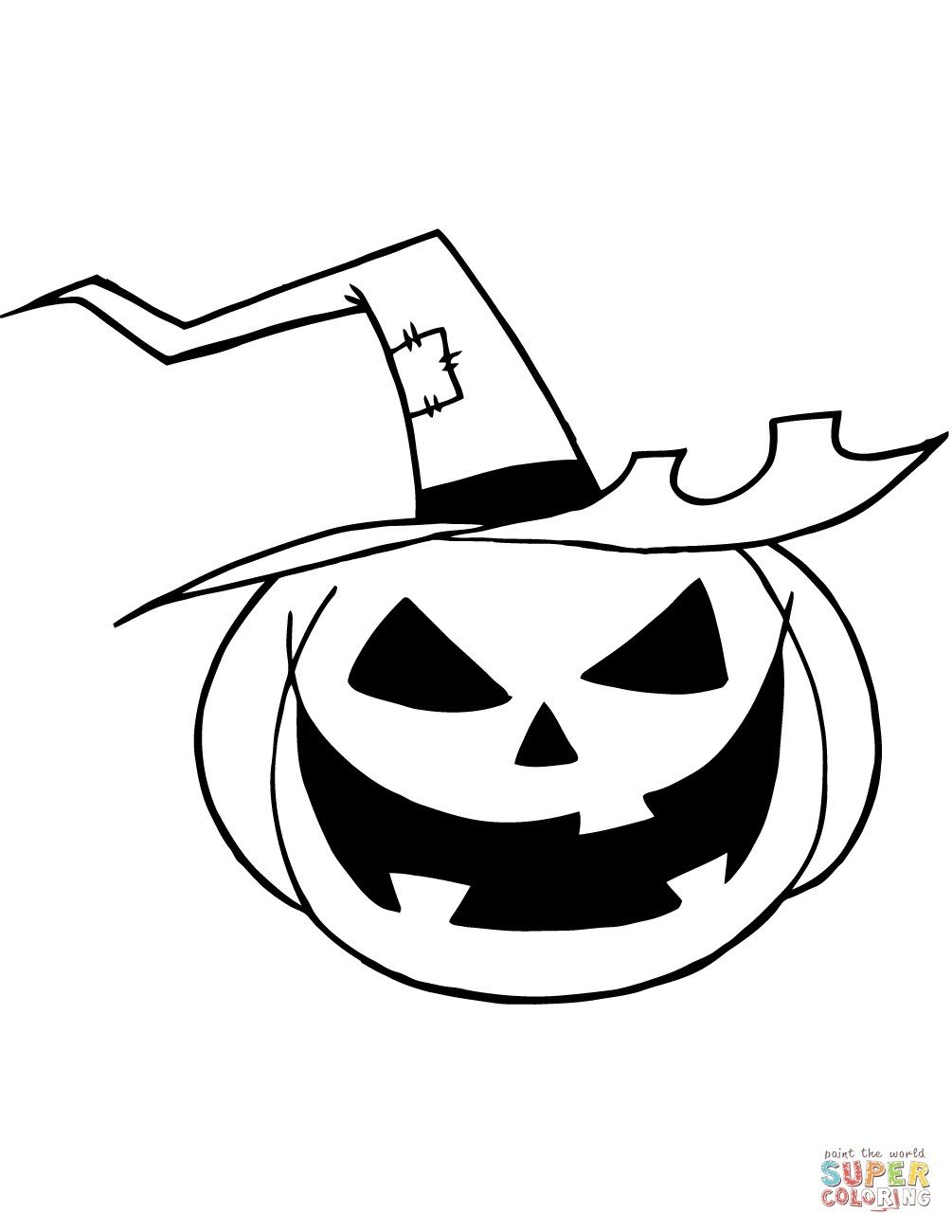 24 Pretty Picture Of Jack O Lantern Coloring Page Pumpkin
