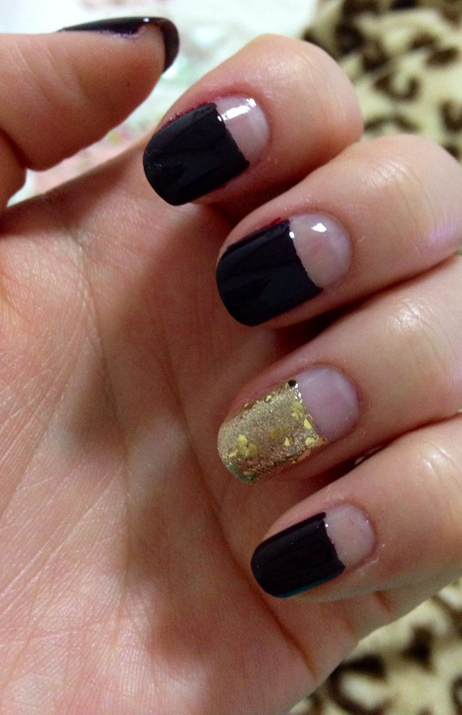 Wine and gold deep french nails | Jenna\'s Nail Art | Pinterest ...