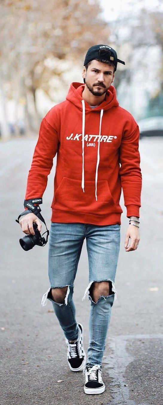 Street Style Guide For Men To Wear Hoodie | Fashion | Mens