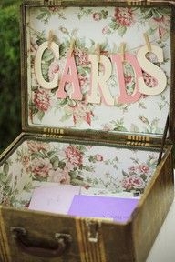 Cute idea for card box.