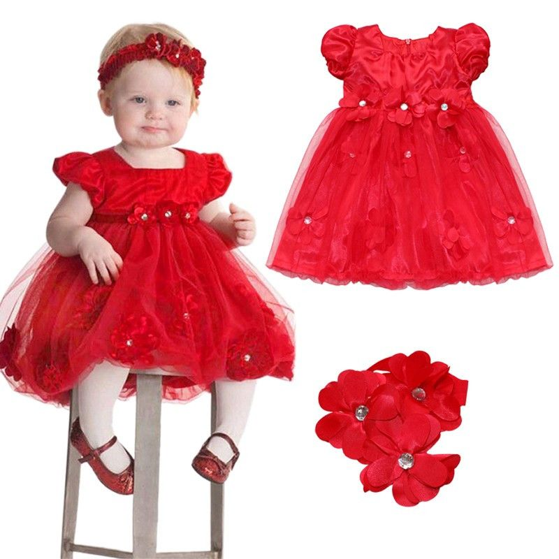 Nice Toddler Girl Baptism Dress Christmas Costumes Baby Girls Princess  Dresses 1 Year Birthday Gift Kids Party Wear Dresses For Girls -   - Buy it  Now! cb741c362f46