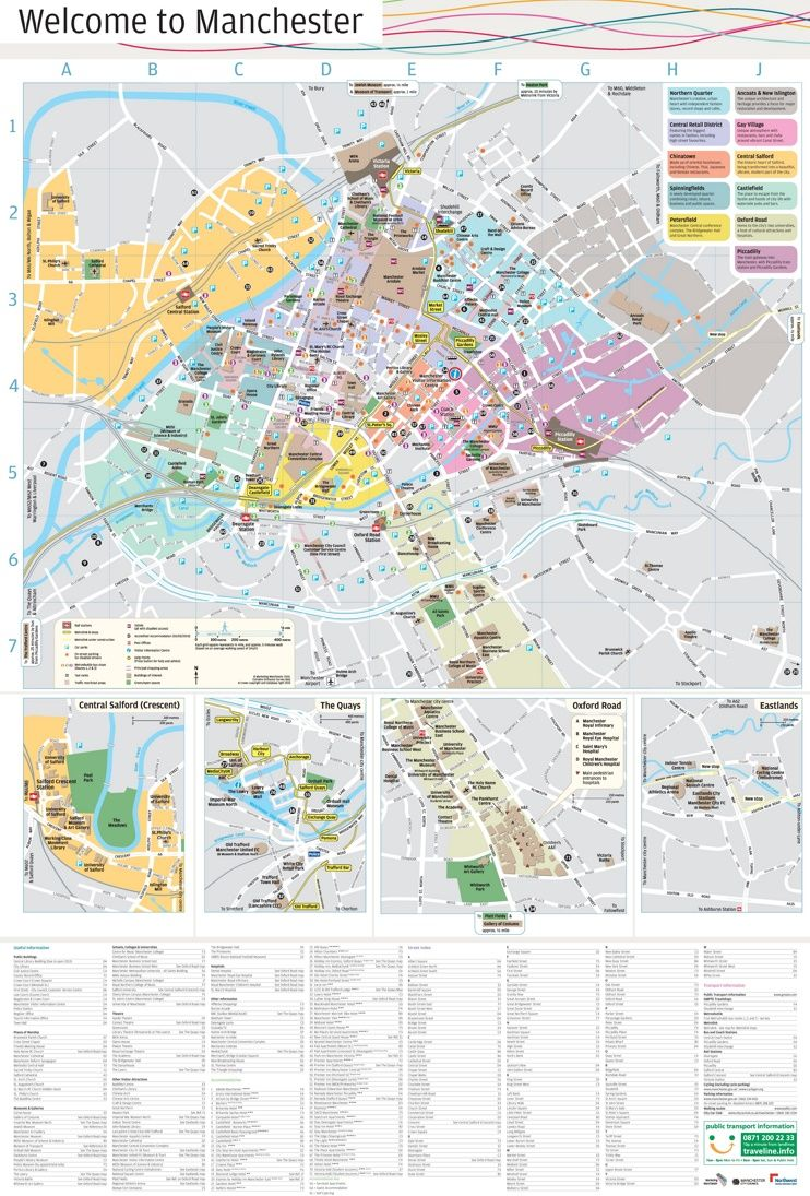 Manchester sightseeing map Maps Pinterest City