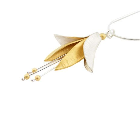 Stamen silver gold necklace by nettie birch favourite jewellers stamen silver gold necklace aloadofball Choice Image
