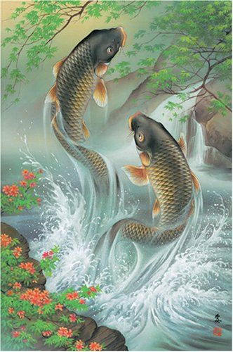 Koi carp traditional japanese art google search koi for Japanese koi painting