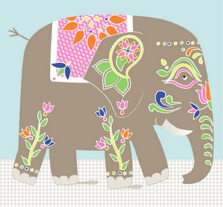 Un l phant du rajasthan g raldine cosneau animals - Dessin elephant rigolo ...