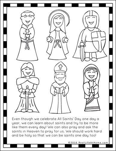 Saints Printables And Worksheet Packet All Saints Day Printables All Saints Day Saint Coloring Catholic Saints For Kids