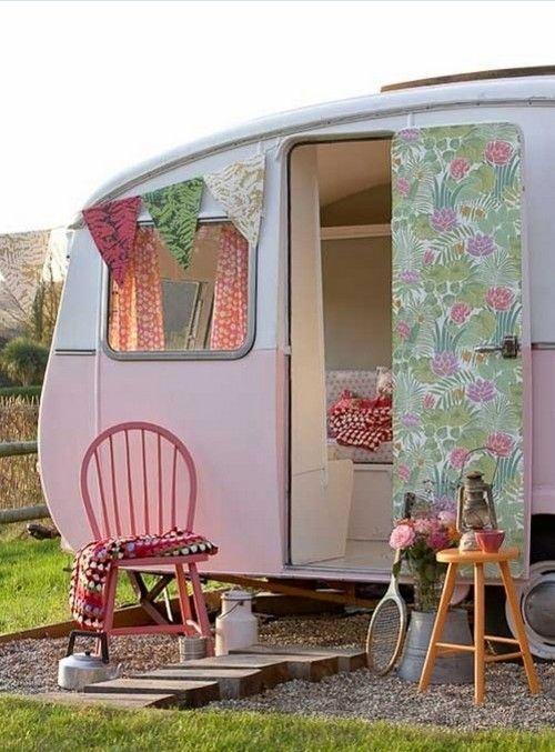 wohnwagen dekoration retro hauch rosa peppermint #wohnwagen
