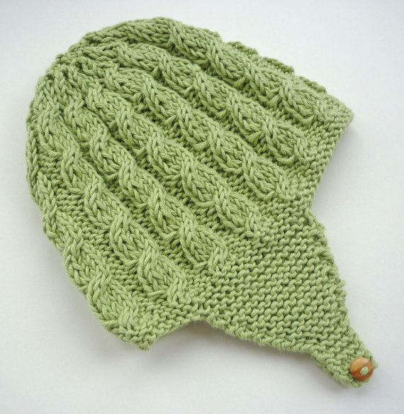 Baby Earflap Hat Knitting Pattern with cable design por LoveFibres ...