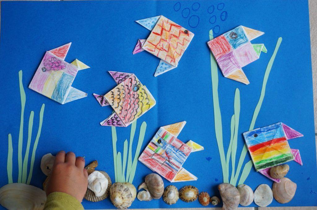 Photo of Schlechtwetter-Basteln im Urlaub // DIY Origami-Fische – Reges Leben