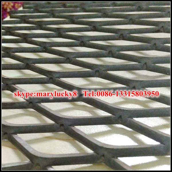 3.5m width Mild Steel expanded metal sheet