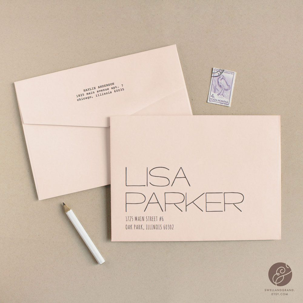 Printable Wedding Envelope Template  Instant Download  Letter