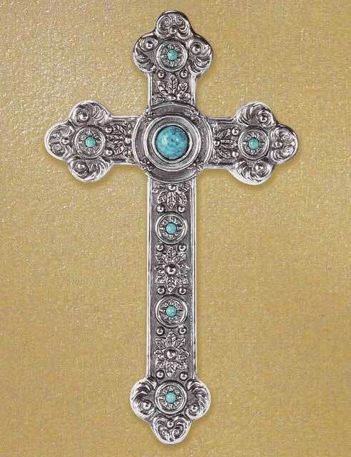 CritterCreekRanch\'s booth » Wall Cross Plaque Faux Turquoise and ...