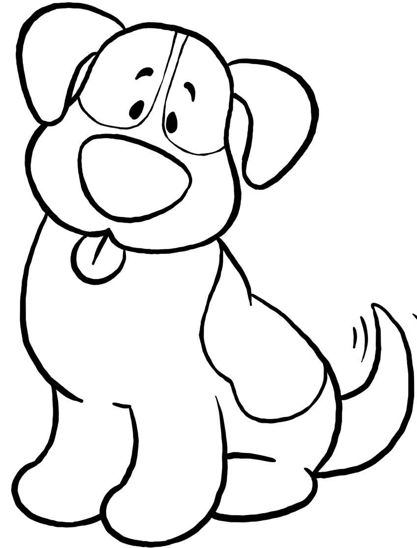 Cute Dog Coloring Pages Endearing Cute Dog Coloring Pages  Coloringprintables  Pinterest  Dog Decorating Design