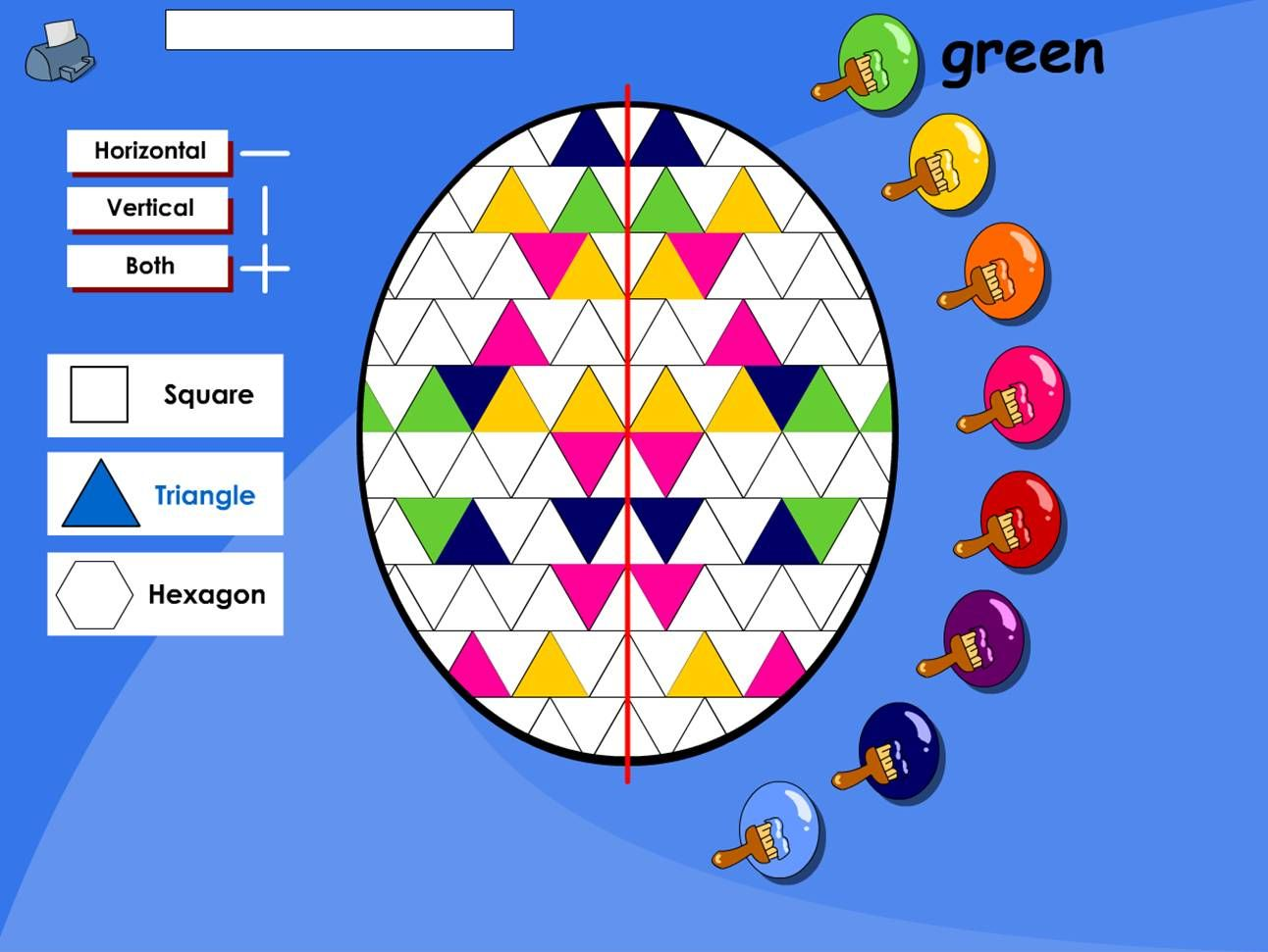 An Easter Themed Activity For Making A Symmetrical Pattern On An Egg Make A Repeating Symmetrical Pattern Using This Simple Template Choose Your Repeating S