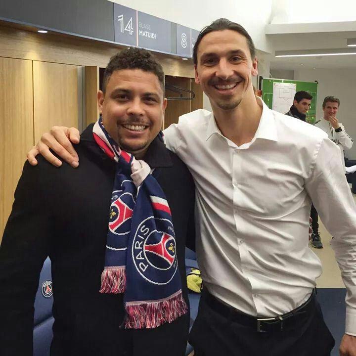 #ronaldo meet #zlatan after #PSGFCMETZ