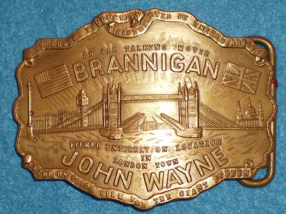 achats le moins cher paquet à la mode et attrayant John Wayne - Costumes - Brannigan 1975 - Boucle de Ceinture ...