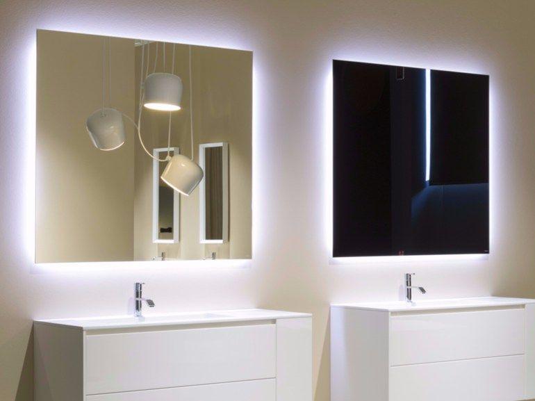 Specchio a parete con illuminazione integrata per bagno VARIO by ...