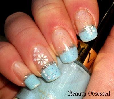 Notd Holiday Themed Nails Winter Wonderland Manicure