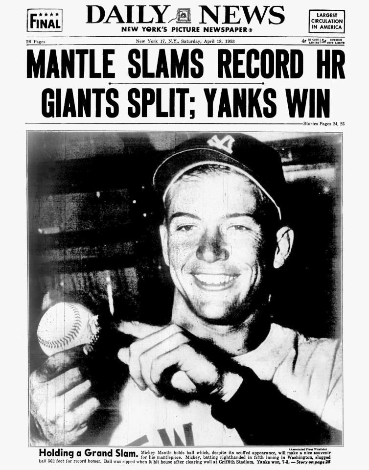 Mickey Mantle Mickey mantle, New york daily news