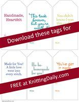 Knitting Daily - Gift Tags