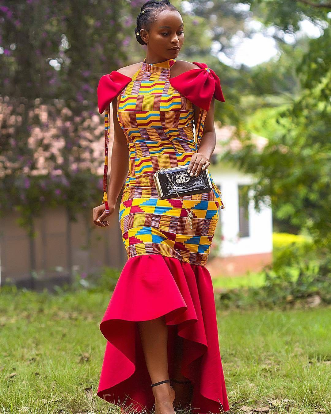Here are 2018 Ankara styles for Big Ladies | Ankara Long Gown ...