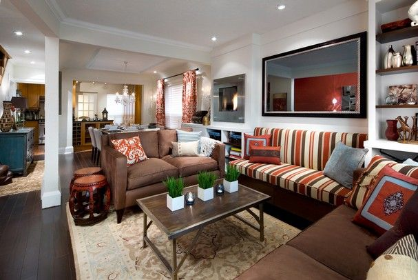 I Like The Oranges And Browns From Candice Olson Designs New Design For Small Living Room Space Inspiration