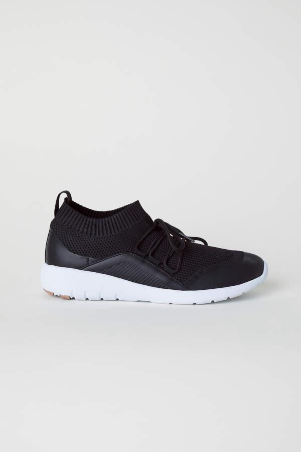 e6c5c6f2203cf H M H   M - Fully-fashioned Sneakers - Black - Women
