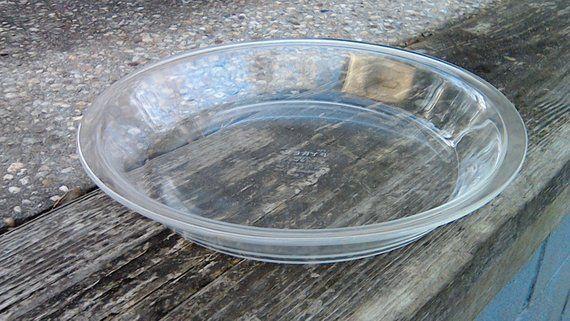 Pyrex Glass Pie Plate 10 Inch DEEP DISH Pyrex Clear Glass Pie Plate MINT Great for & Pyrex Glass Pie Plate 10 Inch DEEP DISH Pyrex Clear Glass Pie Plate ...