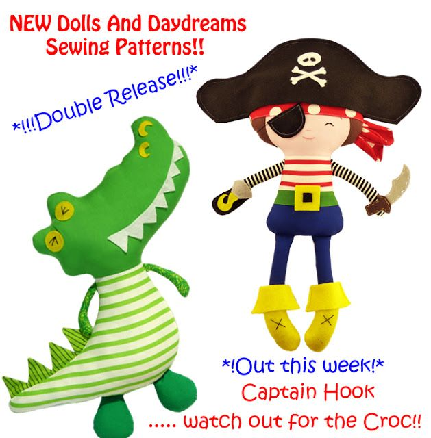 Dolls And Daydreams - Doll And Softie PDF Sewing Patterns: New Peter ...