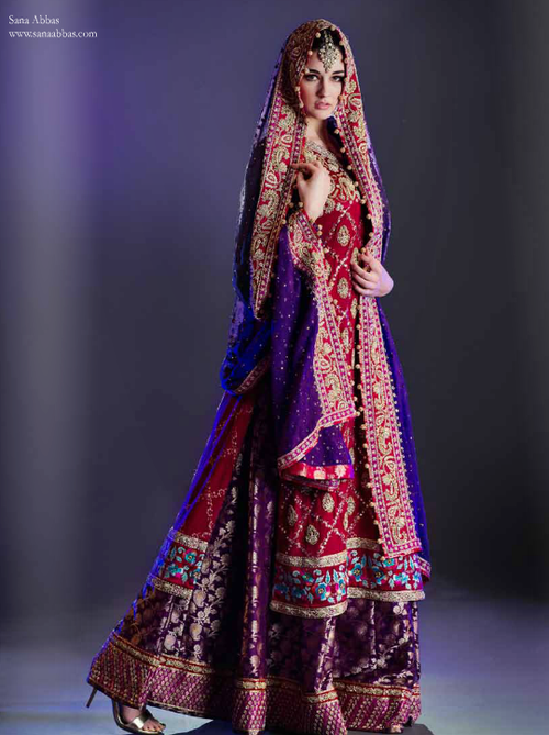 2601265f7b9 Sana Abbas Lengha Pakistani wedding dress