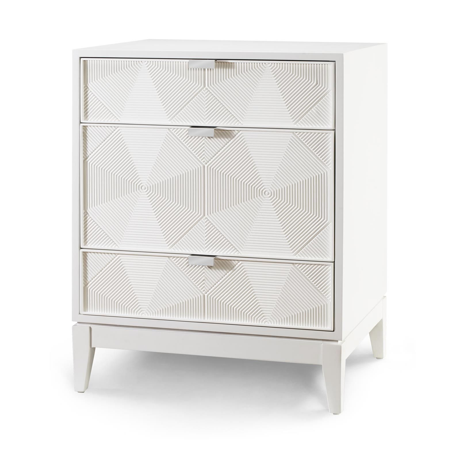 Borneo 3 drawer side table white Bungalow 5